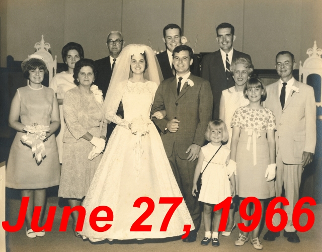 Dot Lee Bethune Wedding 1966